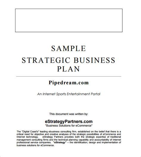 business format template free business template