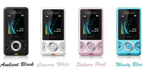Sony Ericsson W205 new colours for w205 walkman