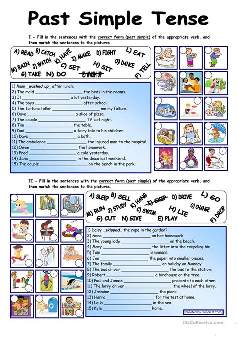 past simple tense fully editable with key worksheet