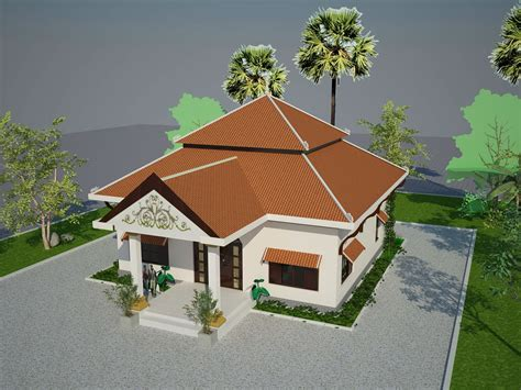 small khmer house roof style architecture decoration idea