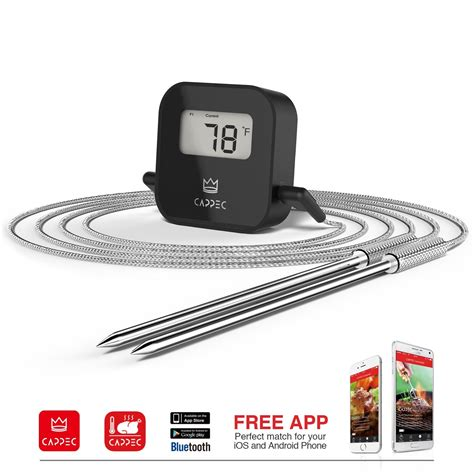 Best Gift For Boyfriend For Christmas - cappec s bluetooth wireless bbq thermometer smoker friendly unique gift for