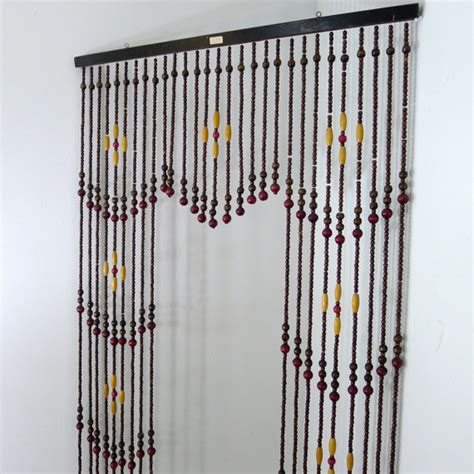 a beaded curtain vintage wooden bead curtain beaded curtain room divider