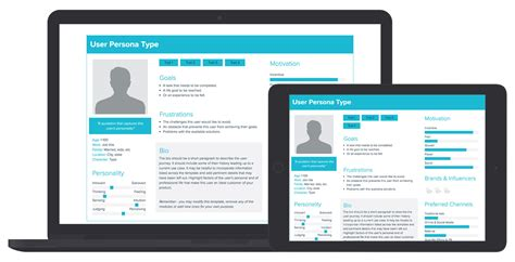 User Persona Template And Exles Xtensio User Profile Website Template Free