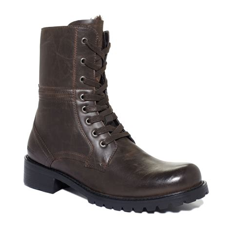 kenneth cole boots mens kenneth cole reaction fauxfur lined boots in brown for