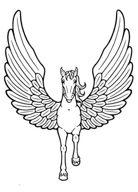 imagenes de unicornios con alas para colorear dibujos de caballos con alas para colorear e imprimir