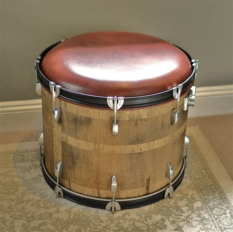 Wooden Drum Stool by Wood And Leather Bass Drum Stool