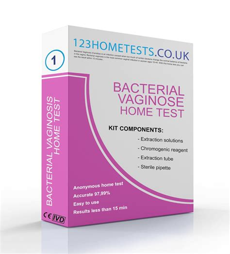bacterial vaginosis 123 home test