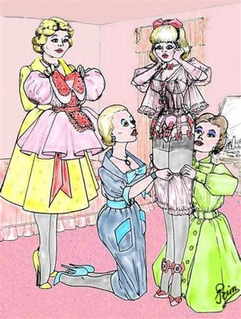 forced feminization art and drawings into the wendyhouse sissy stories and drawings by prim of