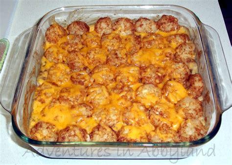 dinner ideas quick easy tater tot casserole