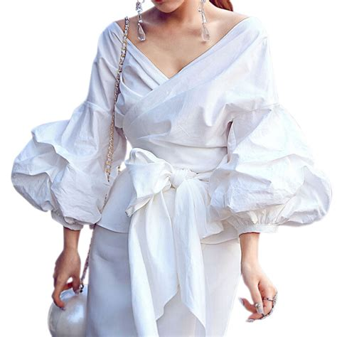 Blouse Blouse Batik Blouse Sogan Blouse Puff aliexpress buy 2xl puff sleeve blouse blusas white shirts kimono blouse