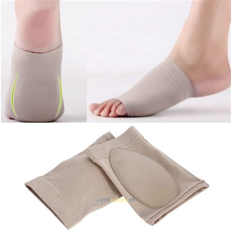 Medial Arch Support Insole For Flat Foot Kaki Lepek Cushion silicone gel foot fallen arch support heel cushion insole