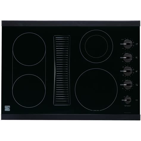 electric cooktop with downdraft kenmore elite 44119 30 quot downdraft electric cooktop