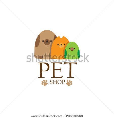 stock vector pet shop logo template vector image of an dog