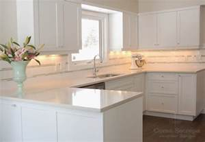 White Cabinets White Countertop white shaker kitchen cabinets design ideas