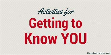 Getting To You Getting To All About You by 3 Speech Therapy Activities For Getting To You