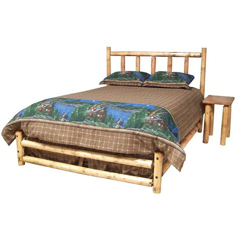Log Headboards For Beds by Pine Log Collection Northwoods Bed Log007lp