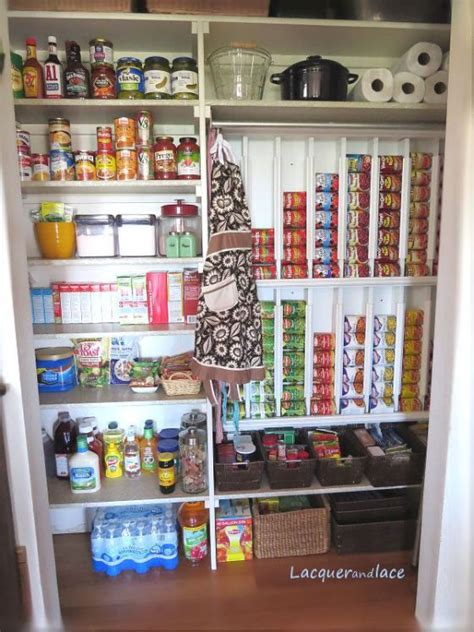 Food Pantry Organization Ideas by Diy Pantry Organization Rotating Canned Food System