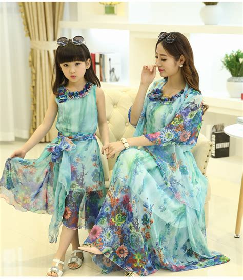 mommy and me outfits matching mother daughter clothing 2015 summer style babymmclothes mom and daughter dress
