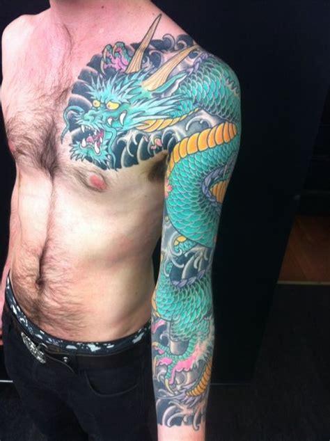 tattoo dragon green green dragon full sleeve tattoo tattoo sleeves