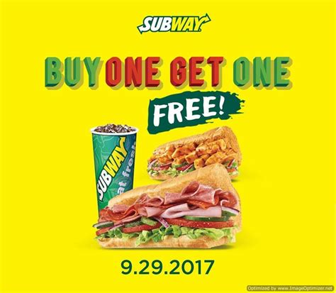 buy one subway buy one get one free