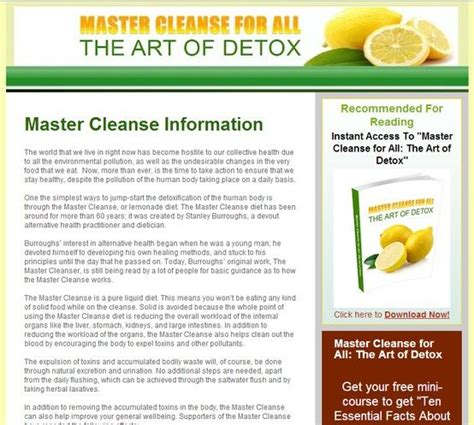Master Cleanse Detox Benefits by 74 Best Images About Master Cleanse On Benefit