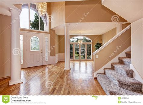house entrance foyer gorgeous foyer in luxury house stock photo image 43175294