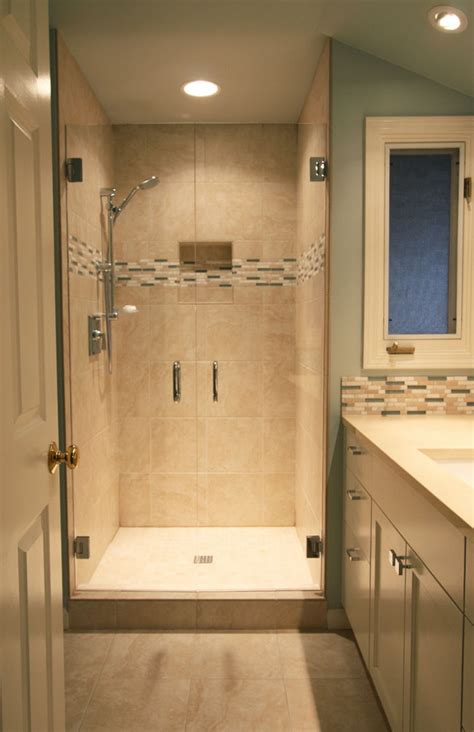 Small Bathroom Shower Remodel Ideas Small Bathroom Remodel In Lake Oswego Introduces Light And
