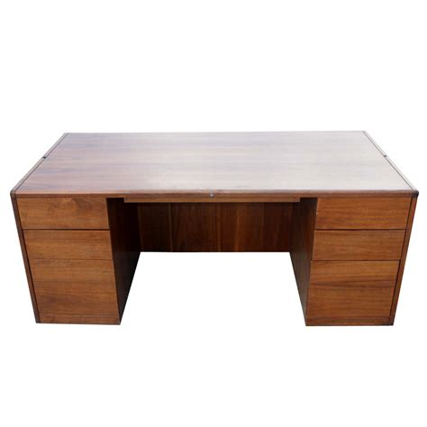 office desk vintage 72 quot vintage steelcase walnut desk office pedesta ebay