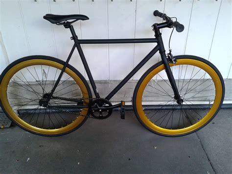 Fixie United Sale 6ku bikes single speed fixie matte black with gold wheels yelp