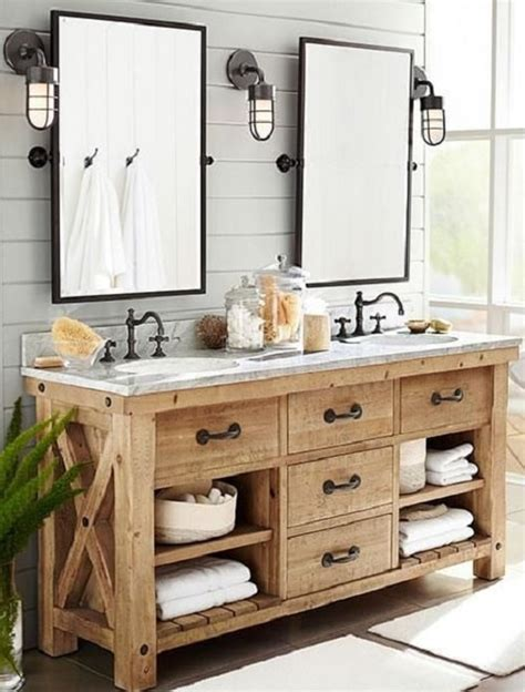 15 Antique And Ancient Weathered Wood Bathroom Vanity Ideas Weathered Bathroom Vanity