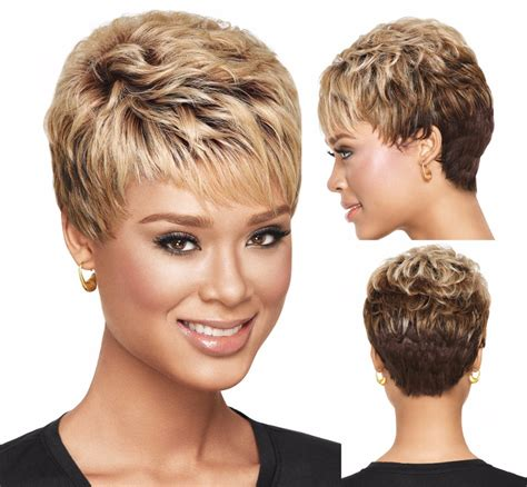 hair extensions for short pixie haircut fashion ombre blonde short pixie cut wigs popular haircuts