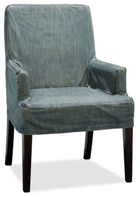 napa chair slipcover napa armchair slipcover denim blue contemporary