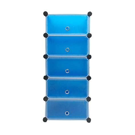 Rak Besi Pakaian jual starhome lemari penyimpanan serbaguna biru 5 pintu rak pakaian rak sepatu