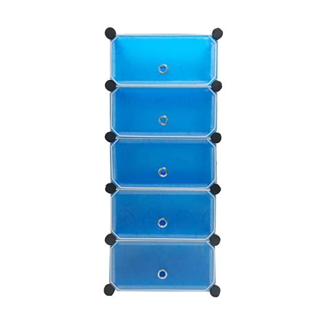 Rak Serbaguna Biru jual starhome lemari penyimpanan serbaguna biru 5 pintu