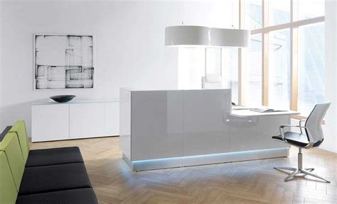 white modern office furniture welcome your guests in style modern office furniture