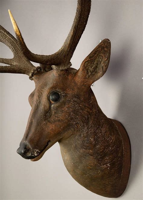 How To Make A Paper Mache Stag - black forest papier m 226 ch 233 stag 1900 for sale at 1stdibs