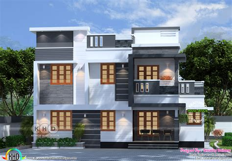 3 bedroom modern flat roof 28 images gandul 3 bedroom contemporary flat roof 2080 sq ft 4 bedroom flat roof box model home plan kerala home design and floor plans