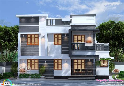 flat roof 4 bedroom modern house kerala home design and floor plans 4 bedroom flat roof box model home plan kerala home design and floor plans