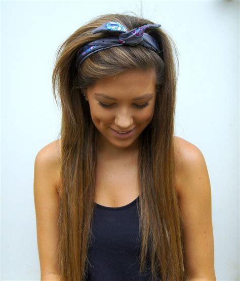 hairstyles bow headband 64 best bandana hairstyles images on pinterest