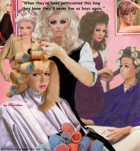 Forced Feminization Beauty Salon Art | pin by silvia trav on feminization just love it