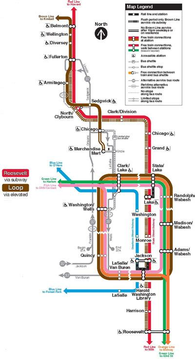 chicago brown line map brown line chicago map