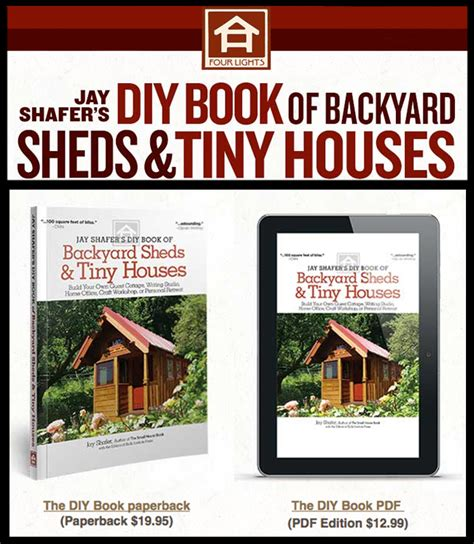 libro jay shafers diy book book review diy book of backyard sheds tiny houses by jay shafer sacred habitats
