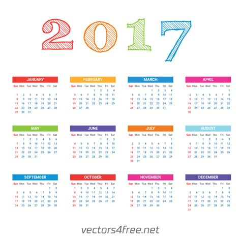 calendar templates for photoshop cs6 get free 2017 calendar template vector week starts from