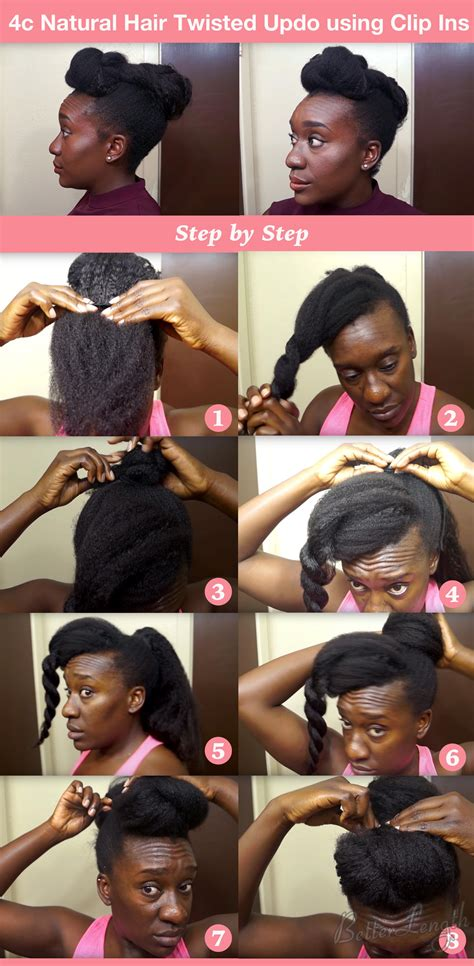 top  quick easy natural hair updos betterlength hair