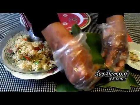 cara membuat nasi bakar ikan teri nasi bakar isi ayam resep makanan spesial
