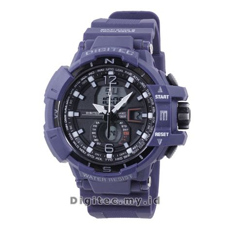 Jam Tangan Sport Pria Digitec Time Water Resist Original 63 digitec dg 2065t biru dongker jam tangan sport anti air