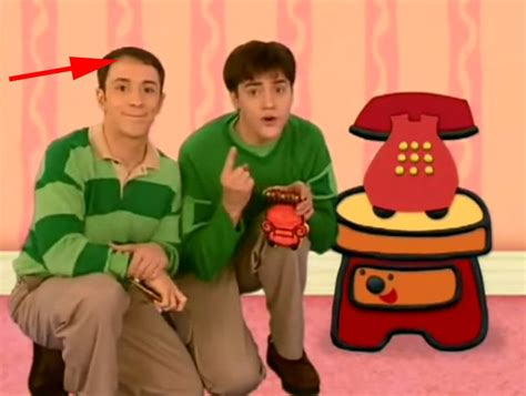 steve and tv shows blue s clues host steve left the show because of balding