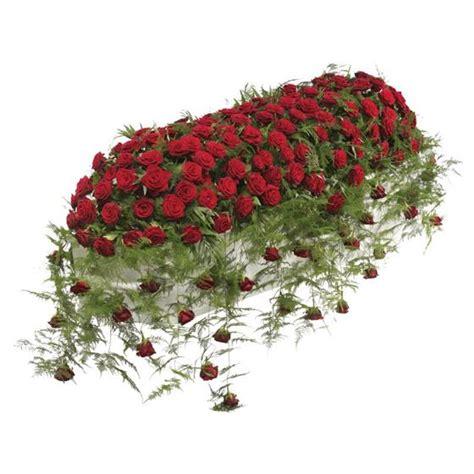 Personalised Vase Luxury Red Rose Casket Spray Funeral Flowers Cardiff