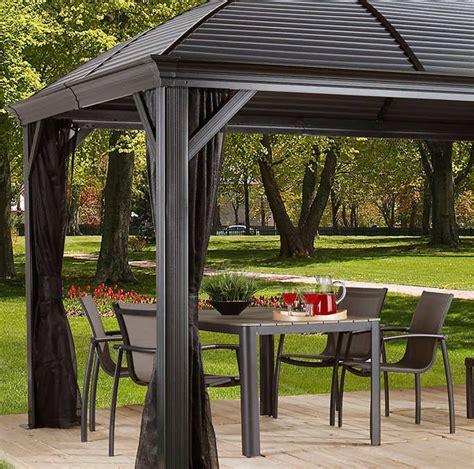 10 x 14 gazebo 10 x 14 hardtop gazebo metal steel aluminum roof post