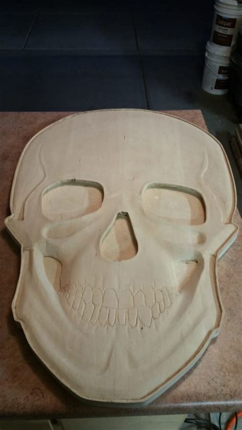 3d carved skull coffe table arizona custom wood designs